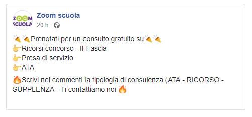 Consulenza Zoom Scuola Facebook