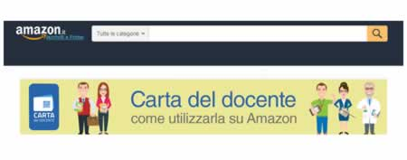 Carta docente su Amazon