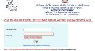 Concorso straordinario nuove disposizioni dall'USR Veneto