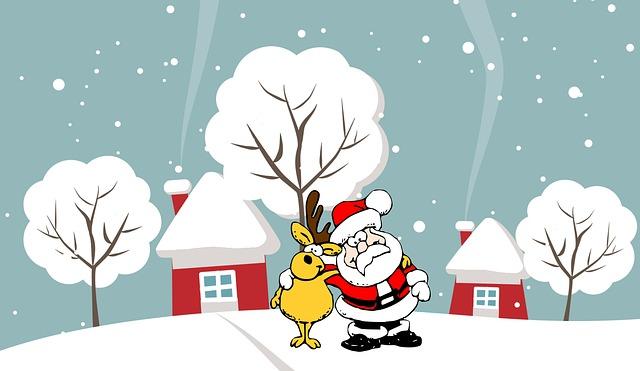 Babbo Natale renna cartoon