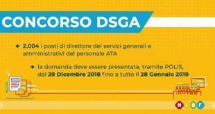 Concorso DSGA il bando in gazzetta ufficiale scadenza 28 gennaio
