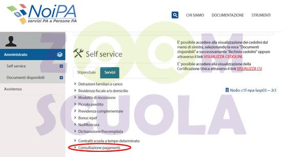 NoiPa Self service cedolino