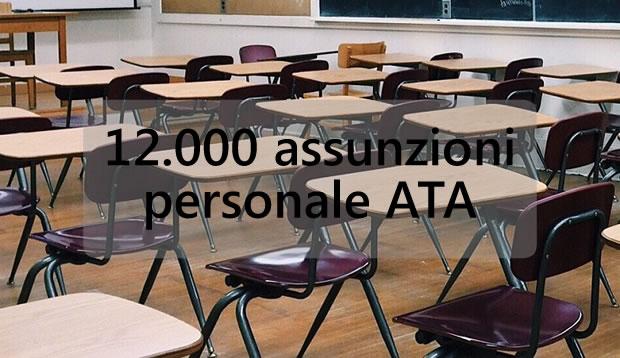 12000 assunzioni per il Personale ATA