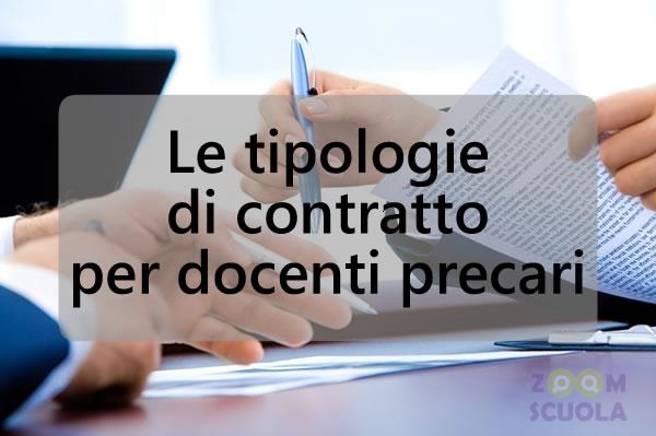 Tipologie di contratto docenti precari