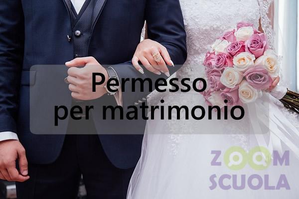 Permesso per matrimonio