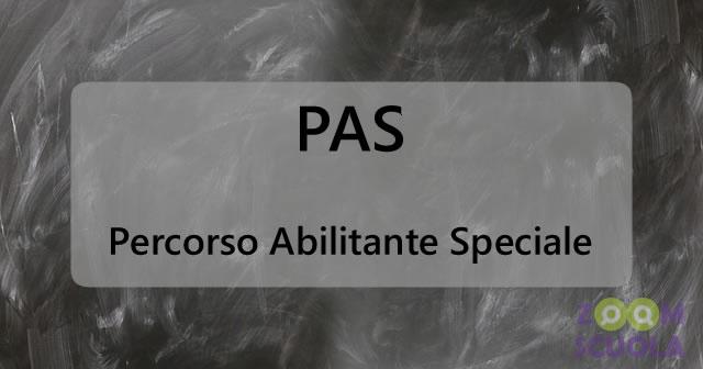 PAS: Percorso Abilitante Speciale