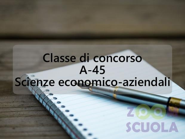 Classe di concorso A-45 Scienze economico-aziendali