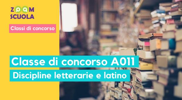 Classe di concorso A-11 – Discipline letterarie e latino