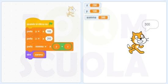 Sommare due numeri in Scratch