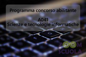 Programma A041 - Scienze e tecnologie informatiche