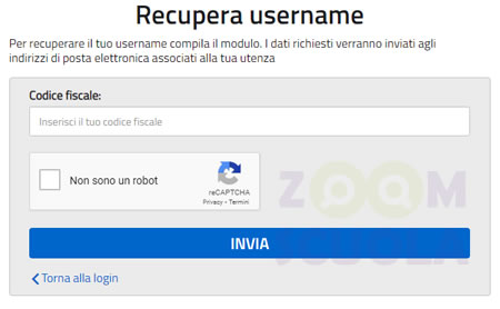 Recupera username Istanze On Line