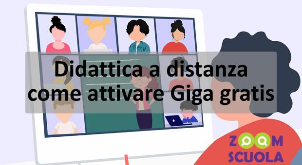 Didattica a distanza: come attivare Giga gratis
