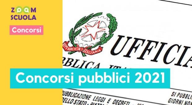 Concorsi pubblici 2021