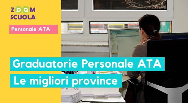 Graduatorie Personale ATA: le migliori province